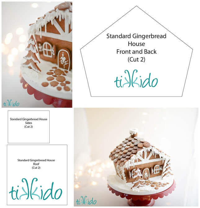 graphic regarding Printable Gingerbread House called Conventional Gingerbread Space Totally free Printable Template