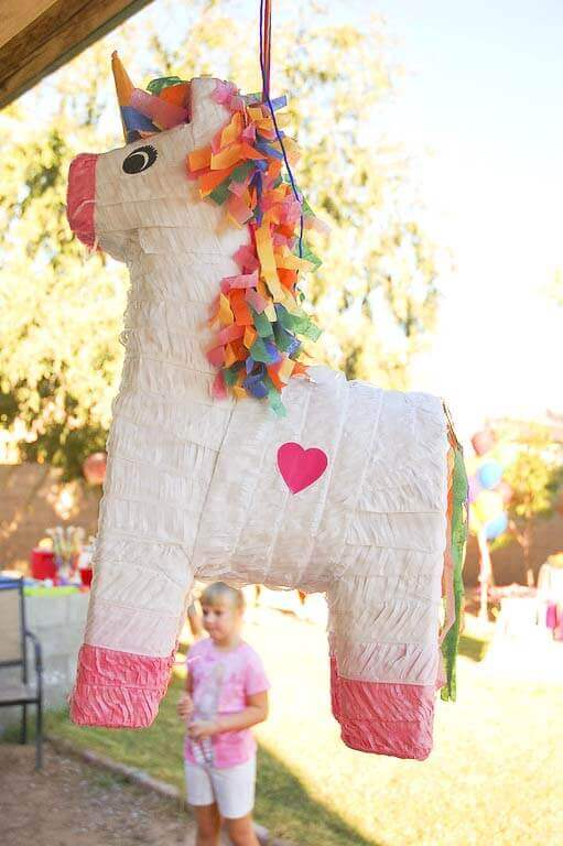 Rainbow unicorn birthday party for All decoration games for girls