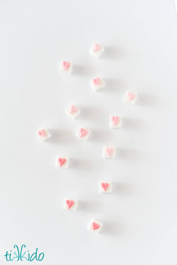 Sweet Valentines Day Tea Party Sugar Cubes Tutorial