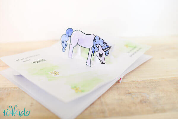 the only spread that used a slightly different technique still super simple was the one with the sad unicorn print out the unicorn and fold in the - Free Printable Get Well Cards For Kids To Color