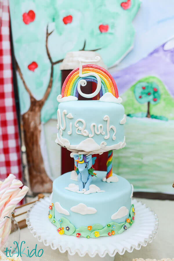 Easy Rainbow Cake Topper Tutorial Tikkido Com