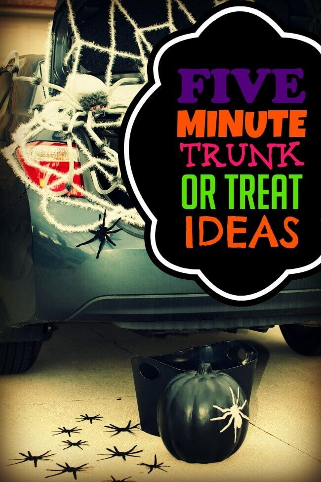 4 fabulous five minute trunk or treat decorating ideas from spaceships and laserbeams weve all been there im usually there more often than not