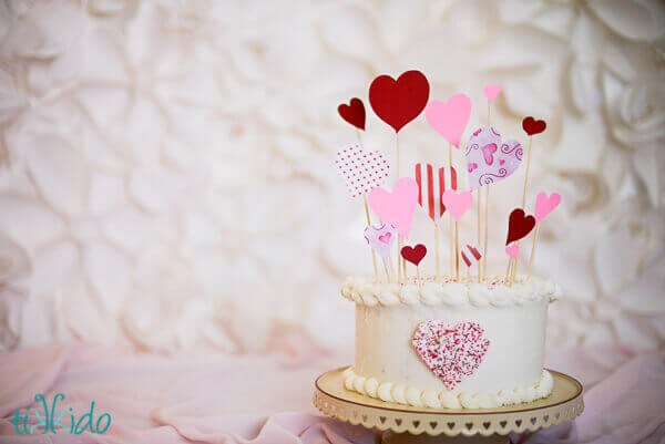 Speedy, Easy, Sprinkle Heart Cake Decoration Tutorial ...