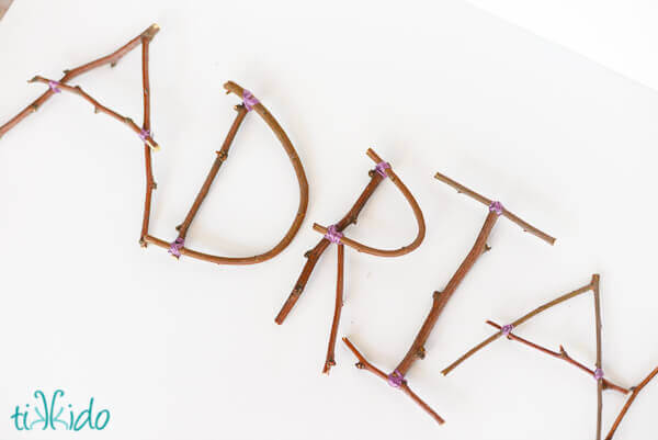 How to Make Rustic Letters out of Sticks and Branches
