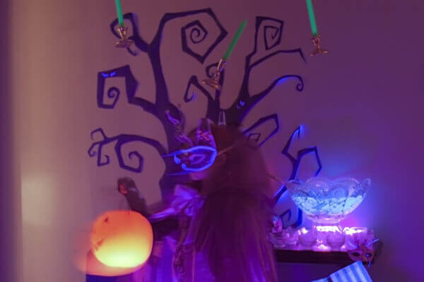 Glowing Pumpkin Halloween Basket
