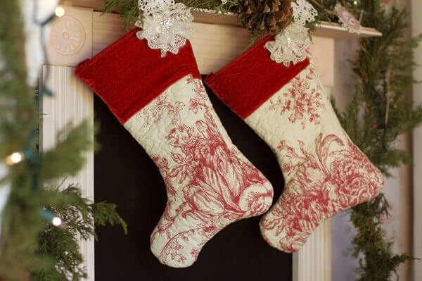 How to make quilted christmas stockings without quilting tikkido com