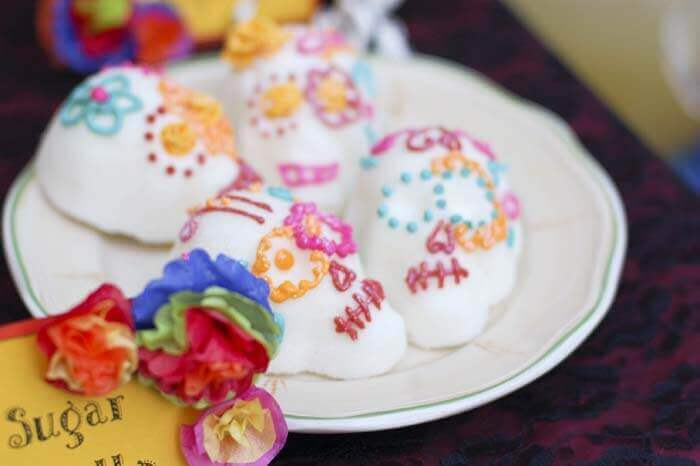 Traditional Mexican sugar skulls