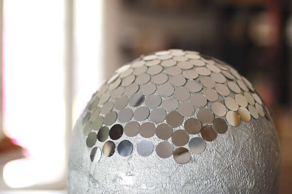 How to make a disco ball pinata tikkido silver piata being covered with silver paillettes solutioingenieria Image collections
