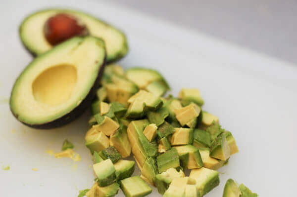 Diced Avocados for Guacamole