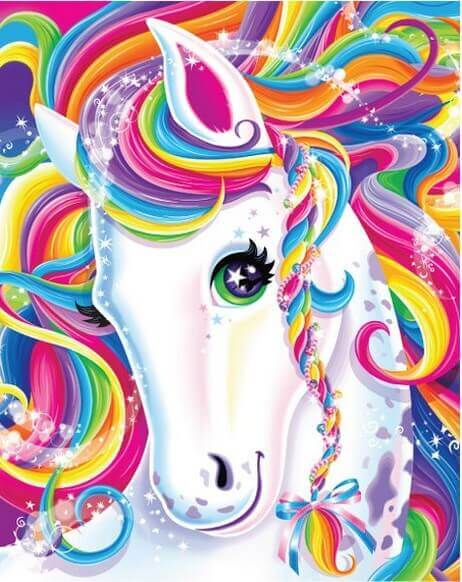 Lisa Frank Rainbow Unicorn Art