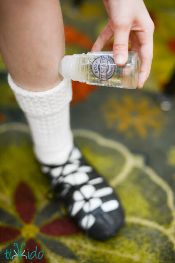 Irish dancing sock glue