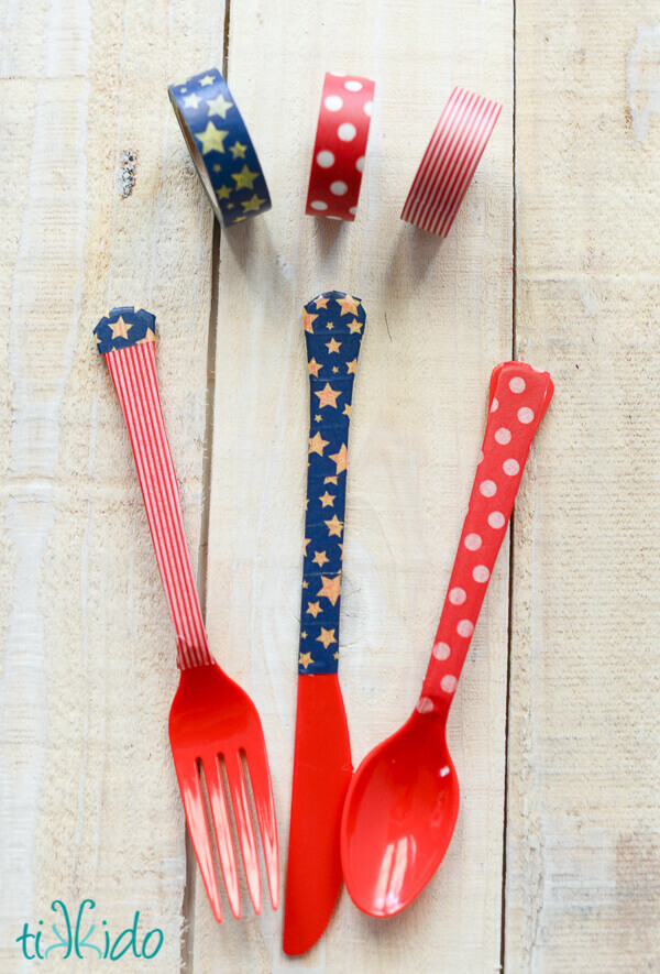 Patriotic Silverware from Tikkido - Fourth Of July Party Must Haves