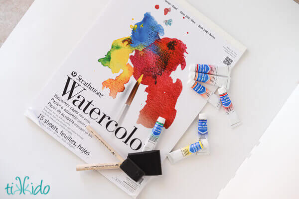how to create simple striking watercolor scrapbook paper designs