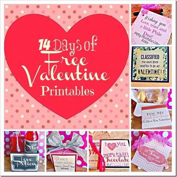 Party Time Linky #30, Free Valentine\'s Day Printables Galore ...