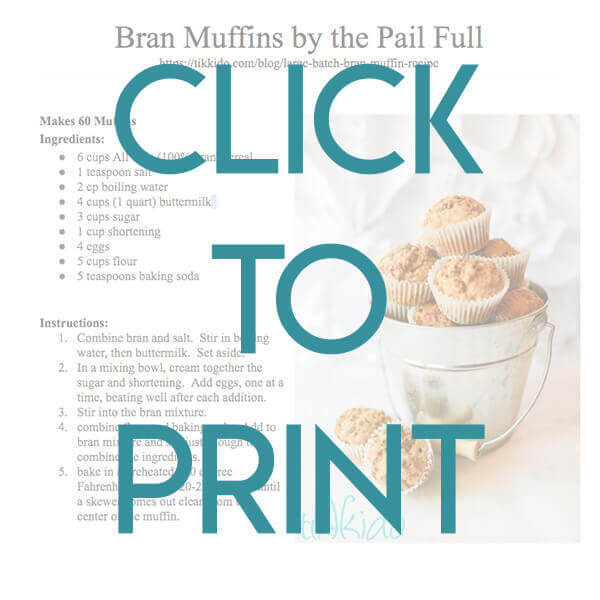 Navigational image leading reader to one page, printable bran muffin recipe.