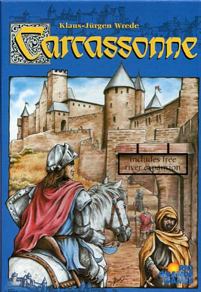 Box art for Carcassone board game, part of the Great Board Games for Families collection.