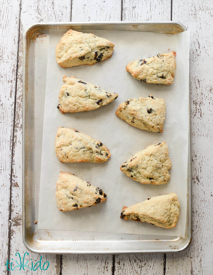 Finished Blueberry Scones