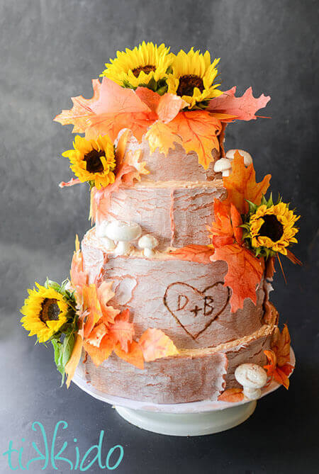 fall wedding cake pictures rustic fall wedding cake tikkido 14164