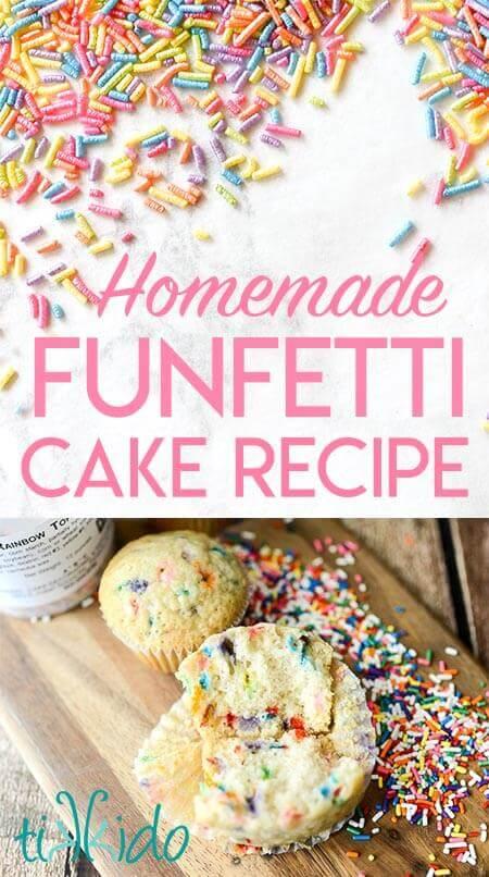 Easy Homemade Funfetti Cake Tutorial And Recipe Tikkido Com