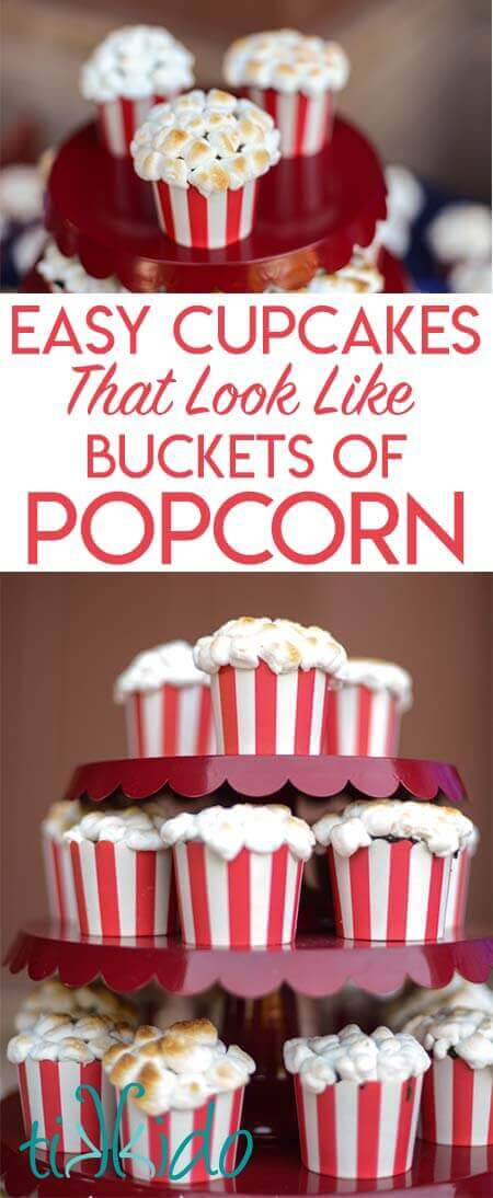 How to Make Adorable Popcorn Cupcakes