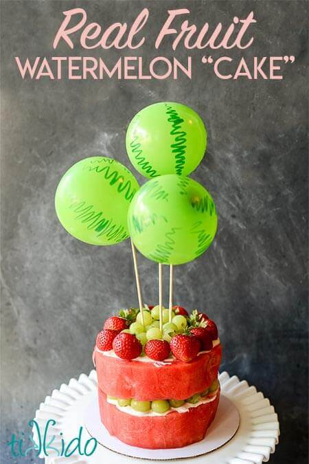 Tremendous Healthy Fresh Watermelon And Fruit In A Cake Shape Tikkido Com Funny Birthday Cards Online Inifofree Goldxyz