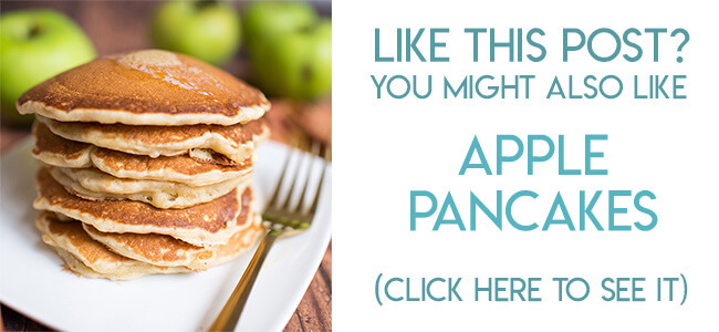Navigational image leading reader to apple pancakes recipe.