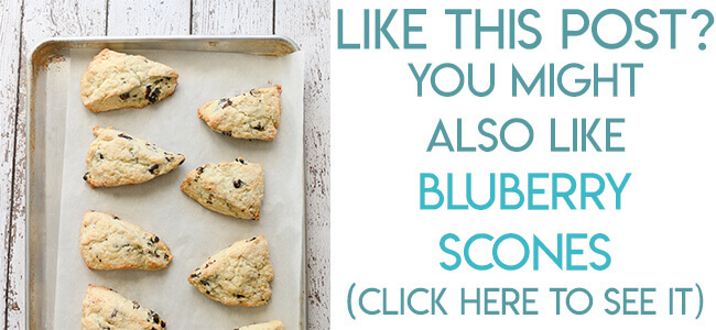 Navigational image leading reader to blueberry scones recipe