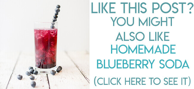Navigational image leading reader to homemade blueberry soda recipe