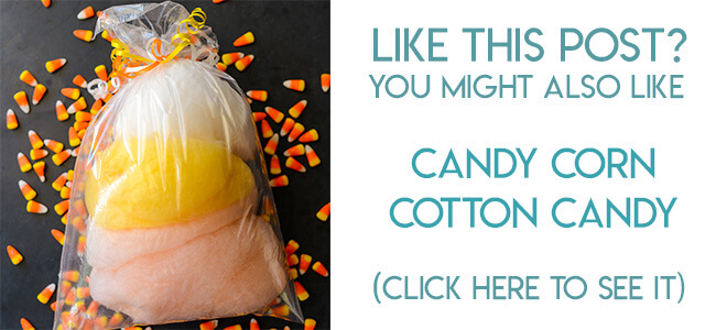 Navigational image leading reader to candy corn cotton candy tutorial.