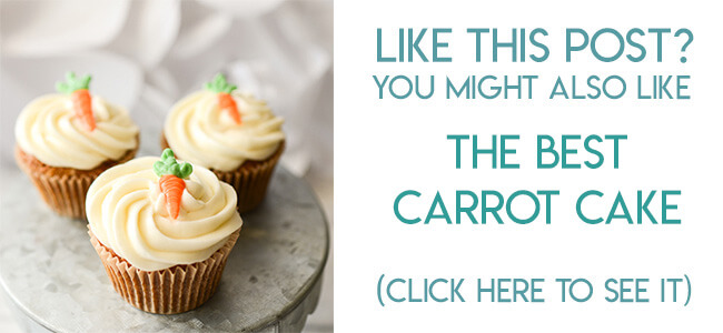Navigational image leading reader to carrot cake cupcakes recipe