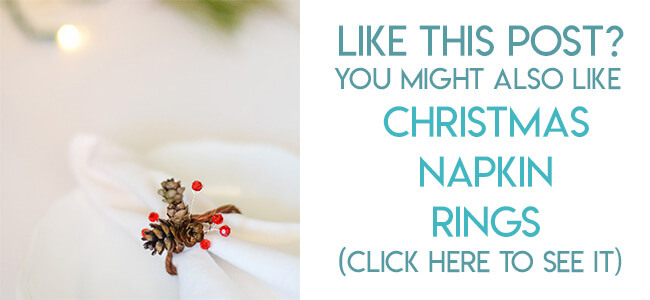 Navigational image leading reader to real pine cone napkin Ring Tutorial.