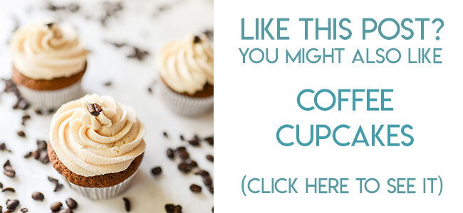 Navigational image leading reader to coffee cupcakes recipe