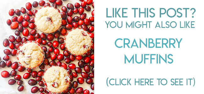 Navigational image leading reader to cranberry muffins recipe