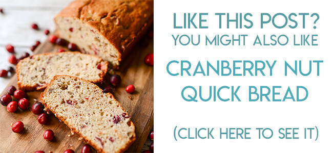 navigational image leading reader to cranberry nut quick bread recipe.