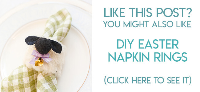 Navigational image leading reader to DIY Easter sheep napkin rings.
