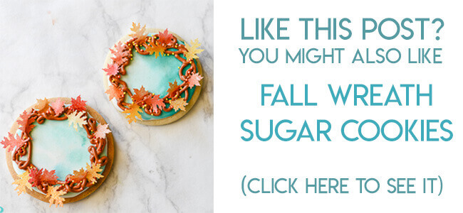 Navigational image leading reader to fall leaf wreath sugar cookie tutorial