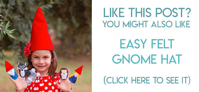 Navigational image leading reader to the DIY felt gnome hat tutorial