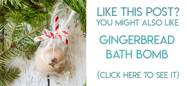 Navigational image leading reader to gingerbread bath bomb tutorial.
