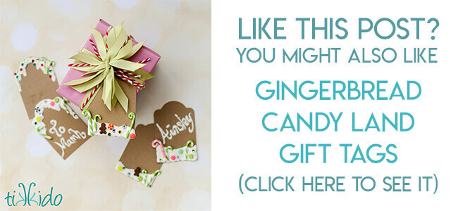 Navigational image leading reader to gingerbread inspired gift tag tutorial