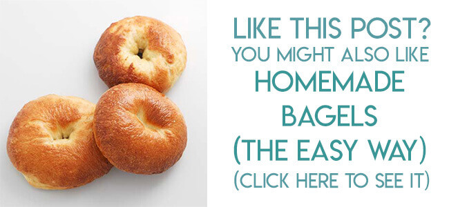 navigational image leading reader to homemade bagel recipe