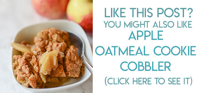 Navigational text leading reader to oatmeal cookie apple cobbler recipe