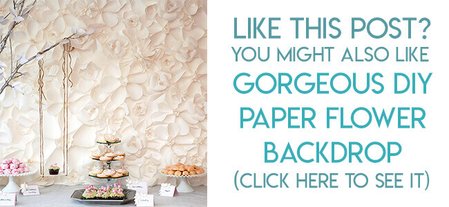 Navigational image leading reader to tutorial for giant paper flower backdrop.