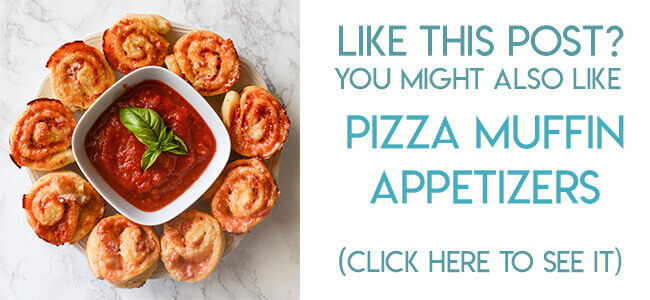 Navigational image leading reader to pizza muffin roll appetizer recipe