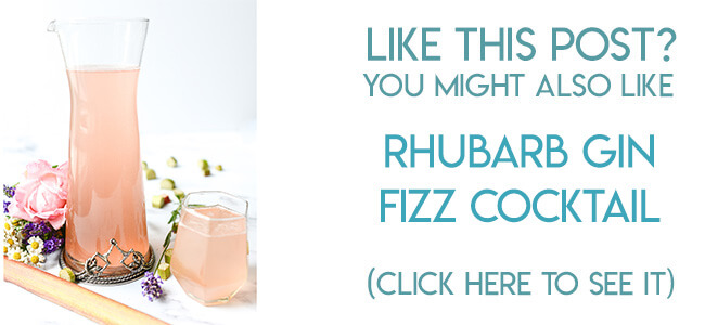 Navigational image leading reader to Rhubarb Gin Fizz cocktail recipe