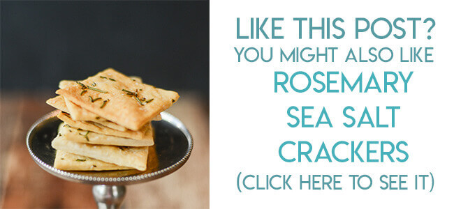 Navigational image leading reader to rosemary sea salt crackers recipe