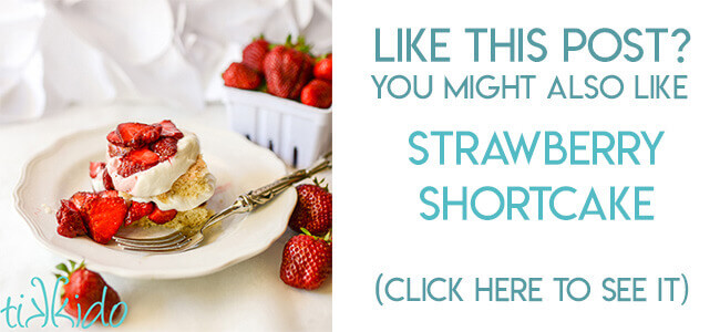 Navigational image leading reader to from scratch, homemade strawberry shortcake recipe.