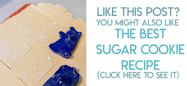 Navigational image leading reader to cut out sugar cookie recipe.