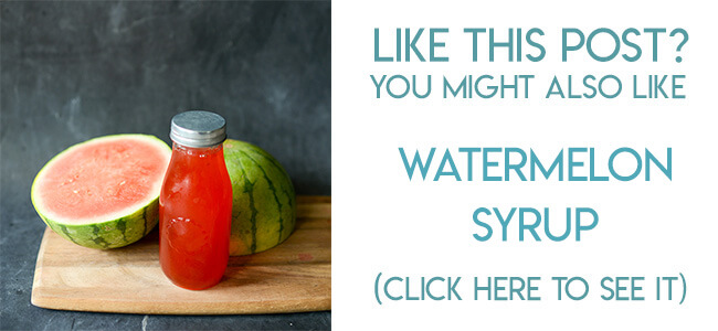Navigational image leading reader to watermelon simple syrup recipe