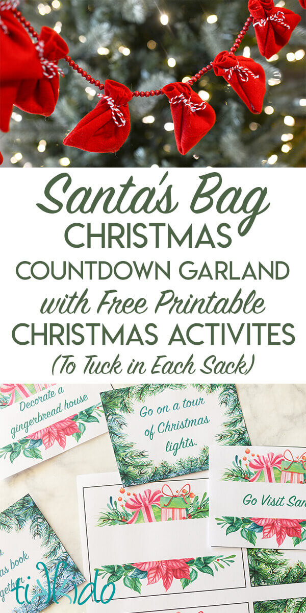 Christmas Count Down.Santa S Sack Christmas Countdown Garland With Free Printable