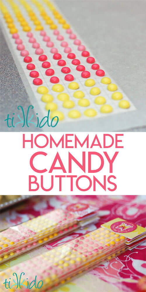 Candy Buttons Recipe images optimized for pinterest